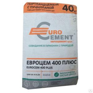 Цемент евро ПЦ-400 40кг Катав 1