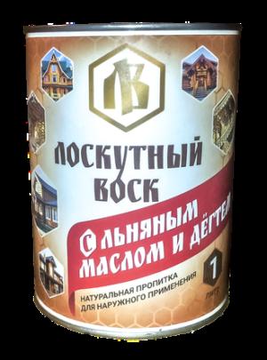 Лоскутный воск с льняным маслом и дегтем 1л 1