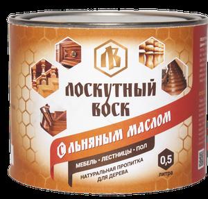 Лоскутный воск с льняным маслом 0.5л
