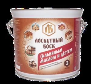 Лоскутный воск с льняным маслом и дегтем 3л 1